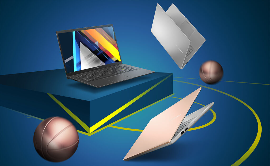 Asus said the VivoBook K15 OLED is made out of aluminum composite and plastic.